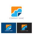 cloud icon logo vector image