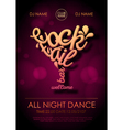 Disco poster background Cocktail bar welcome vector image