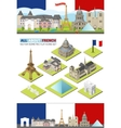 France travel famous landmarks Paris vector image