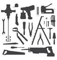 house remodel instruments silhouette set vector image