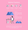 medical statistics researches vector image