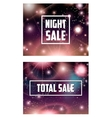 Offer banner on cosmic galaxy background set vector image