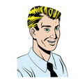 pop art man wearing shirt and tie vector image