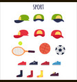 sport clothes and equipments collection vector image