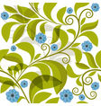 seamless pattern with green branch vector image