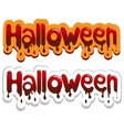 Halloween poster Bloody inscription vector image