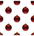 Seamless red christmas balls vector image