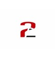 Abstract Number 2 logo Symbol icon vector image