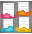 Empty paper sheet with colorful speech bubbles vector image