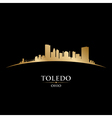 Toledo Ohio city skyline silhouette vector image