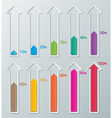 paper infographic chart vector image vector image