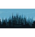 European city silhouette of buildings in gothic vector image