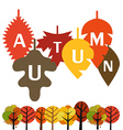 Autumn is coming concept vector image