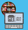 online bookstore vector image