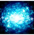 Snowflake Christmas Star Background vector image vector image