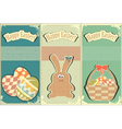 easter card vintage vector image