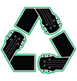 recycled music vector image