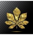 chestnut leaf or Red plate emblem logo vector image