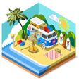Beach Life Icon 3D Isometric vector image