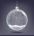 christmas ball classic xmas tree glass vector image