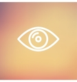 Eye thin line icon vector image