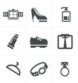 Fashion Icons Set Design vector image