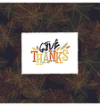 Give Thanks Postcard Happy Thanksgiving greeting vector image