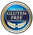 Gluten Free Blue Label vector image
