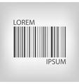 Grey barcode vector image