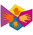 Hand Symbols Together vector image
