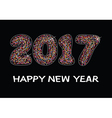 happy new year 2017 celebration card vector image