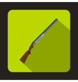 Hunting rifle shotgun icon flat style vector image