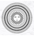 sun tattoo vector image