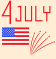 US Independence Day - July 4th vector image