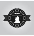 VIntage black logo design a man in hat vector image