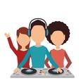 dj man music icon vector image