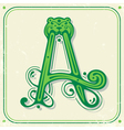 Green initial A vector image