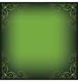 bright green background with floral decor vector image vector image