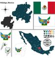 Map of Hidalgo vector image vector image