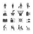 Senior Lifestyle Set vector image