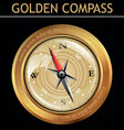 golden compass vector image vector image