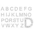 Retro floral romantic font letters vector image