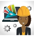 avatar woman architect vector image