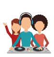 dj man music icon vector image