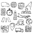 logistic sketch images vector image