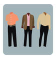 Male business suit vector image