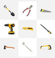 realistic spanner electric screwdriver vector image