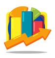 Stock Market Chart Cartoon Style vector image