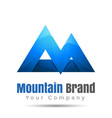 Mountain Colorful 3d Volume Logo Design Corporate vector image
