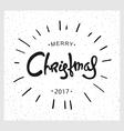 Vintage Christmas design vector image